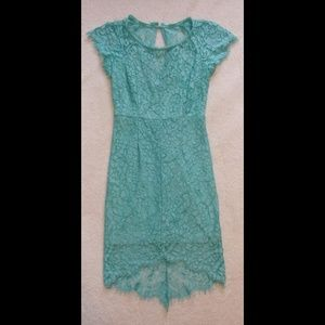 Turquoise Filly Flair Lace Dress